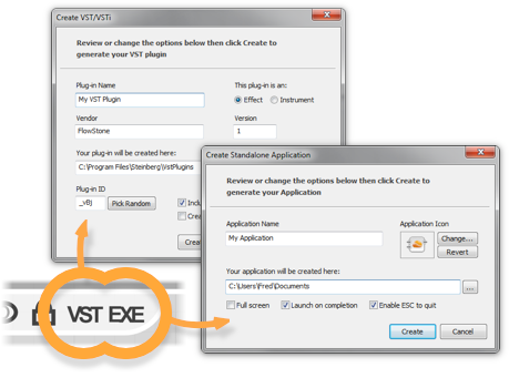 Export to EXE and VST